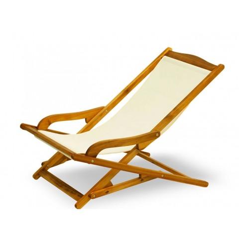 Dondolina pieghevole con braccioli e seduta in Textilene
