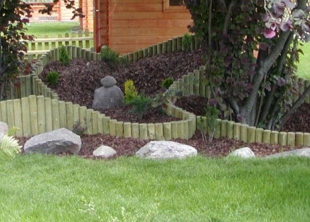 Steccato Estensibile Giardino : Steccato rollborders legno