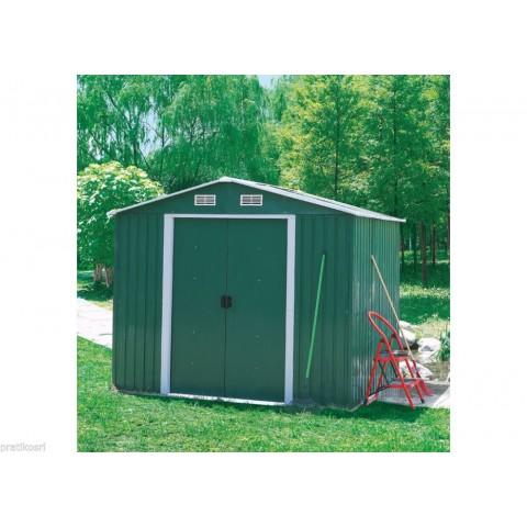 Box casetta giardino da esterno lamiera verde