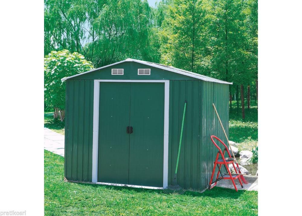 Casetta Giardino In Lamiera : Box casetta giardino da esterno lamiera verde