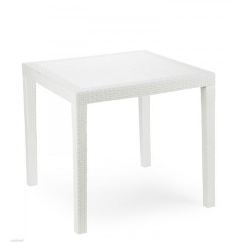 Tavolo King quadrato impilabile bianco rattan