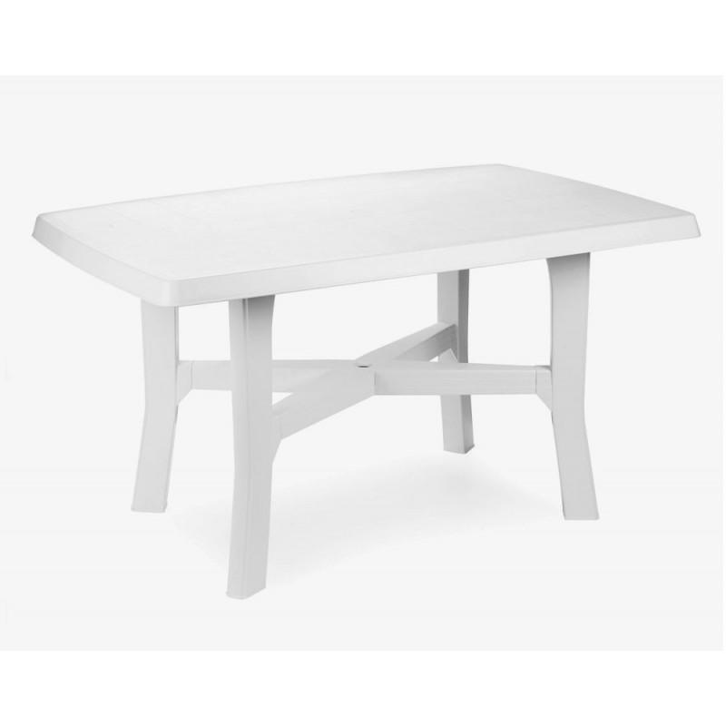 Tavolino rodano rettangolare bianco