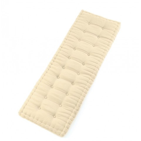 Cuscino futon 180 poly beige imbottito