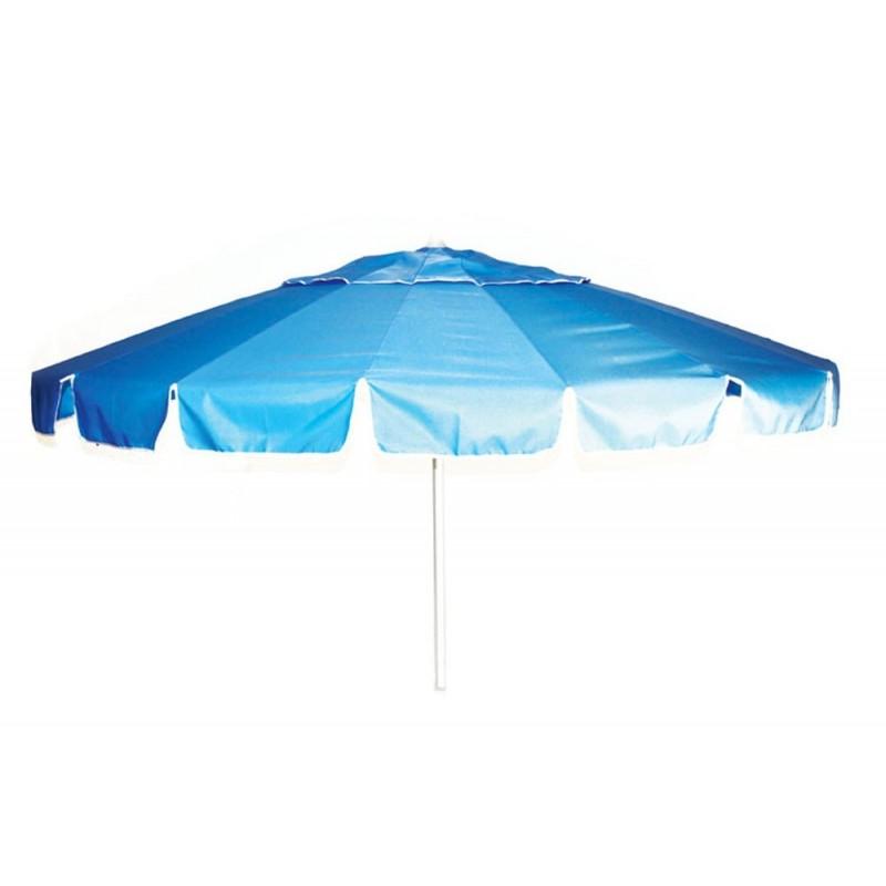 Ombrellone spiaggia alluminio blu con snodo