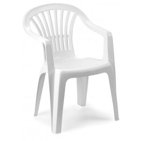 Sedia altea bianca impilabile con braccioli