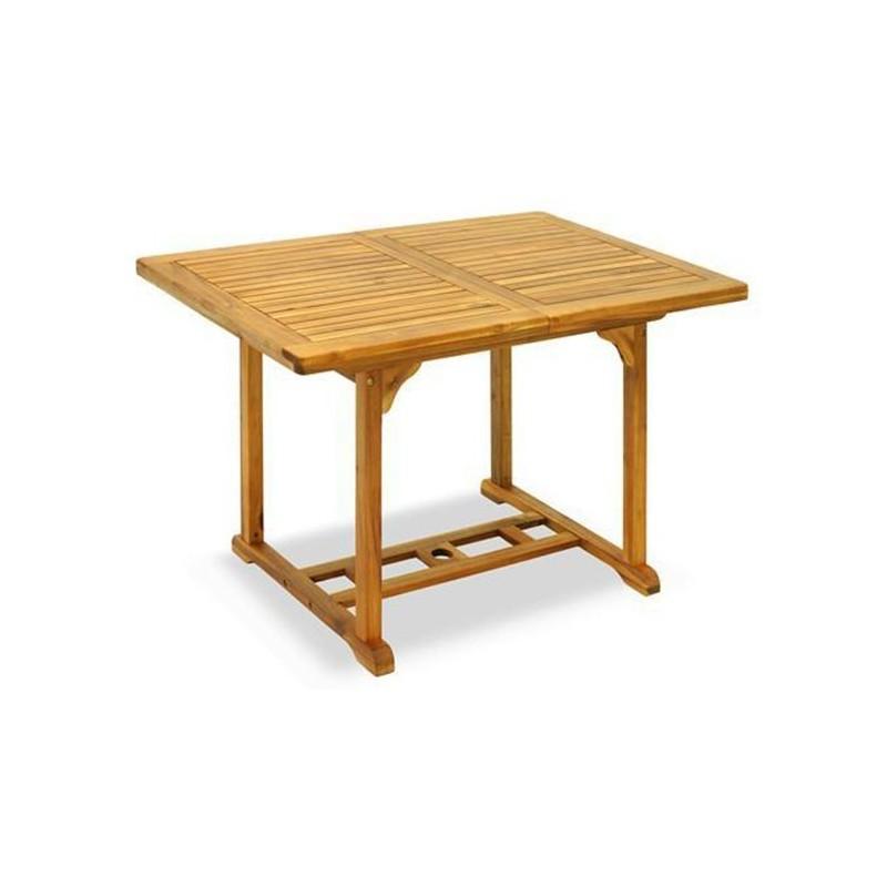 Tavolo rettangolare acacia apertura sincronizzata