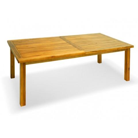 Tavolo rettangolare acacia 4gambe apertura sincronizzata
