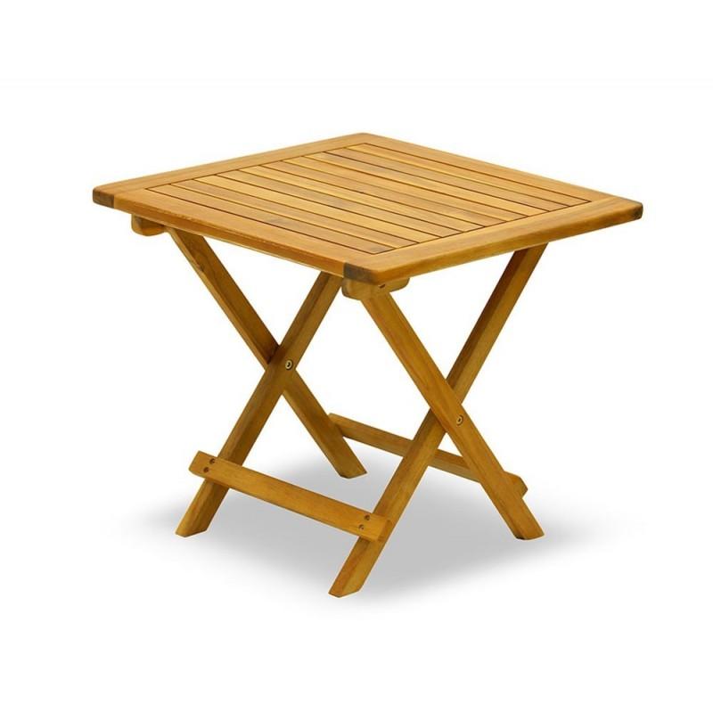 Tavolo acacia basso gambe incrociate