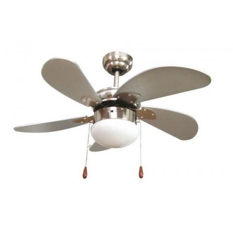 Ventilatore soffitto d.76cm 5 pale 3 velocità reversibile
