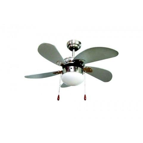 Ventilatore soffitto d.76cm 5 pale silver 3 velocità reversibile