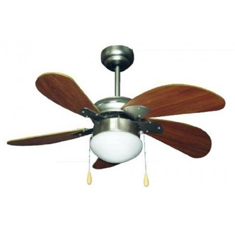 Ventilatore soffitto 5 pale 3 velocità marrone