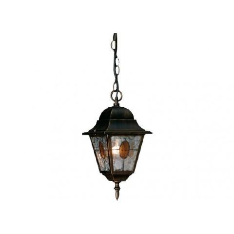 Sospensione lanterna munchen vetro smerigliato nero antico