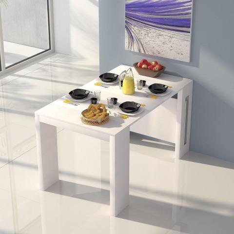 Tavolo Rettangolare Extend Consolle Bianco
