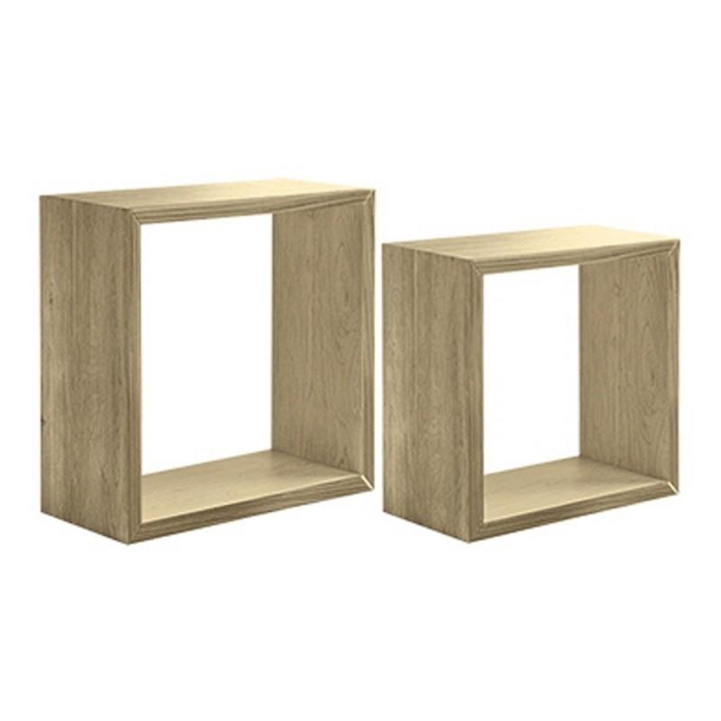 Cubi Da Parete Con Ante.Cubo Mensole Da Parete 2 Pz Qbis In Rovere Sagerau