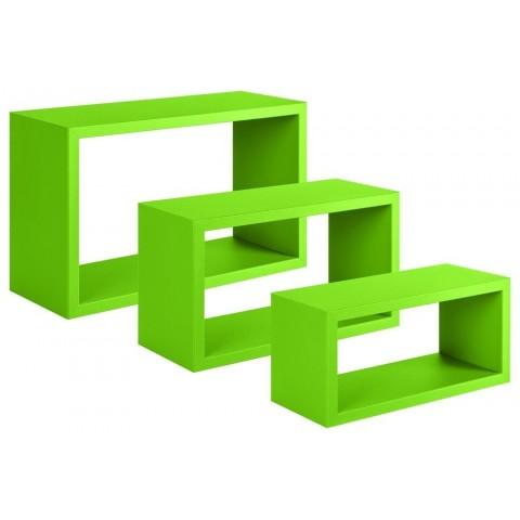 Trittico Mensole da Parete Verde