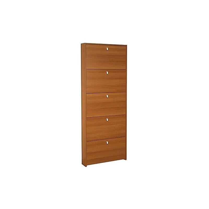 Scarpiera 5 ante legno noce madera