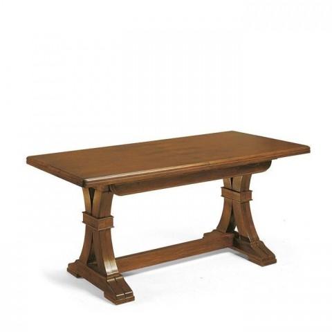 Tavolo rettangolare allungabile in legno massello