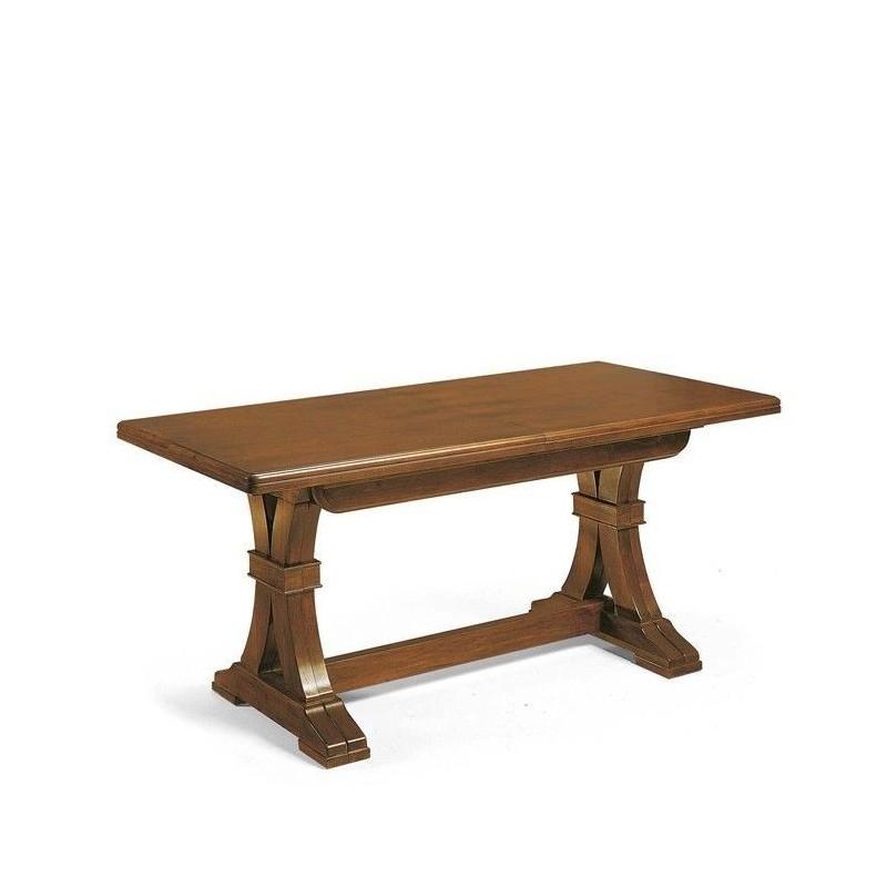 Tavolo da pranzo allungabile in legno massello for Tavolo da pranzo classico