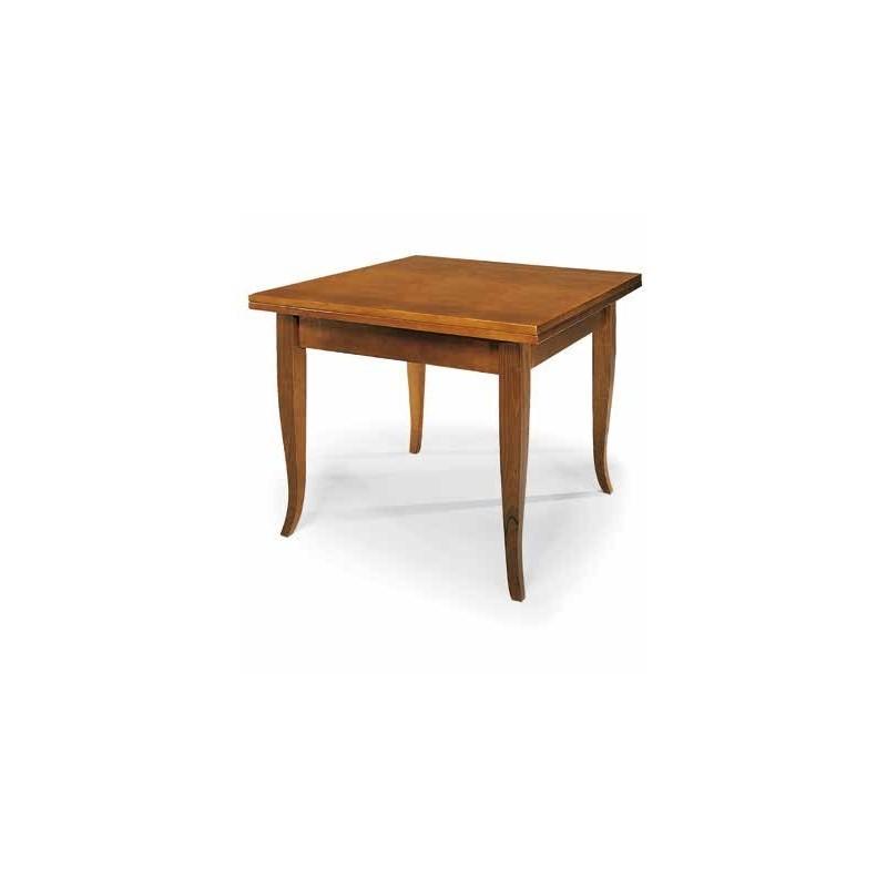 Tavolo allungabile in legno massello noce - Tavolo quadrato allungabile legno massello ...