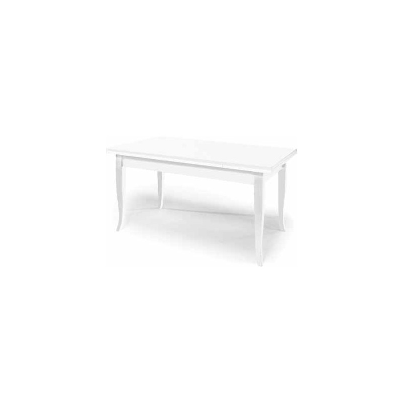 Tavolo allungabile in legno massello bianco - Tavolo quadrato allungabile legno massello ...