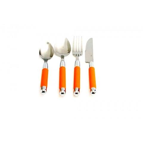 Servizio 24 posate sharra arancio