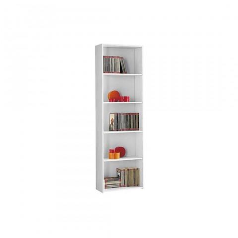 Libreria 5 ripiani colore bianco