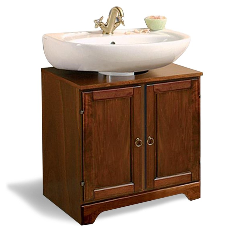 Copricolonna in arte povera con ante in legno for Savini arredo bagno