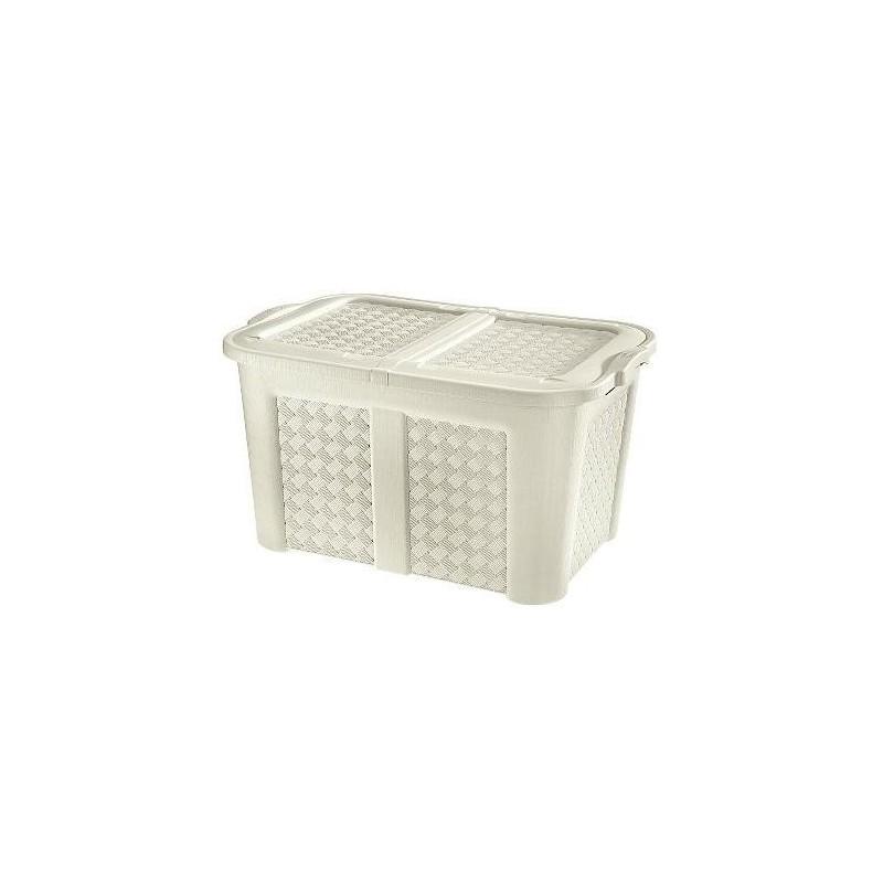 Baule contenitore arianna con coperchio 123LT color angora
