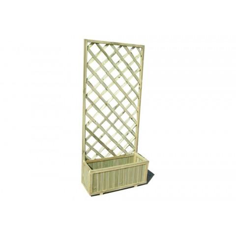 Fioriera con griglia in legno impregnato 180x30x75cm