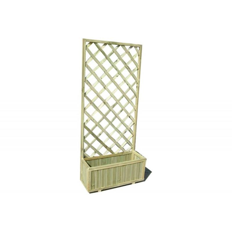 Fioriera con griglia in legno impregnato dim 180X30X75