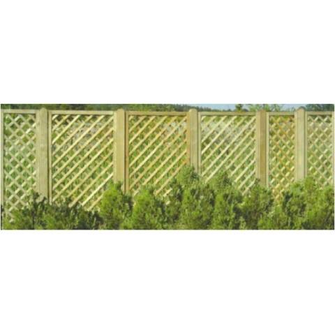 Grigliato rettangolare per recinzione 40x180cm Sandra