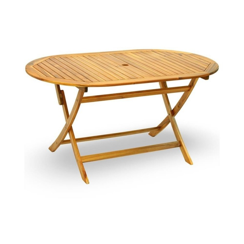 Tavolo ovale acacia pieghevole