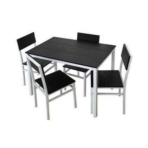 Set tavolo + 4 sedie metallo
