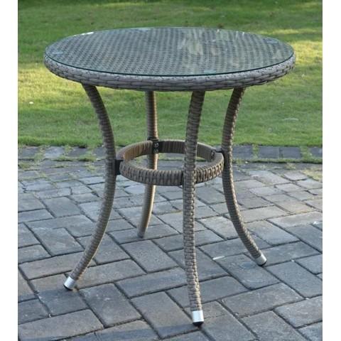 Tavolo Maiorca Tondo Wicker + Alluminio/Vetro