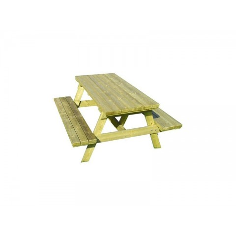 Set pic tic tavolo + panche legno