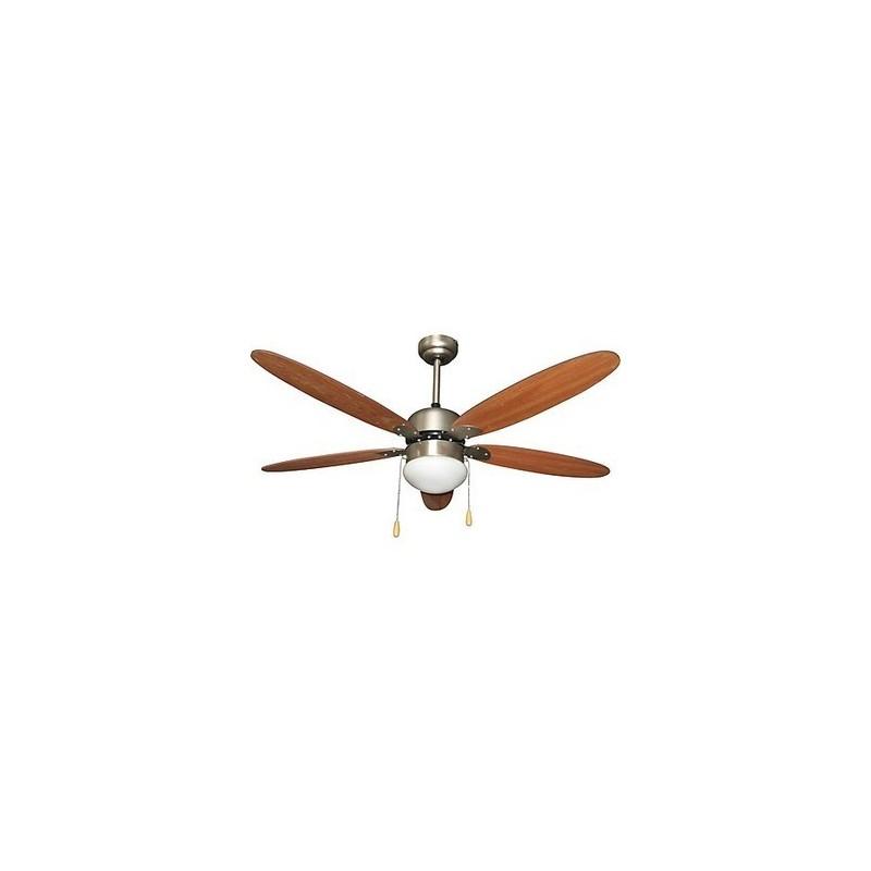 Ventilatore da Soffitto con Luce Lampadario 5 Pale D 132 cm