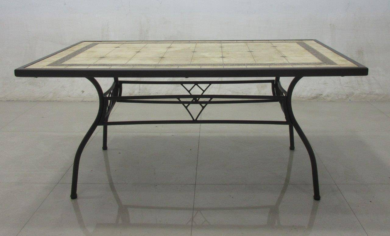 Tavolo Rettangolare Ferro Da Giardino.Tavolo Da Giardino Ferro Battuto Piano Mosaico Tavolo Ferro Mosaico