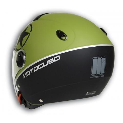 Casco Helmet verde mimetico jet cube