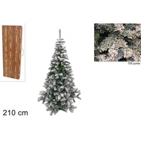 Albero di Lapponia innevato 210 cm 705 punte