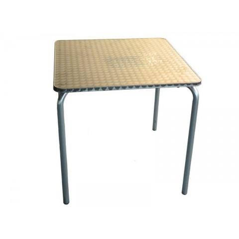 Tavolo quadrato acacia 4gambe apertura sincronizzata