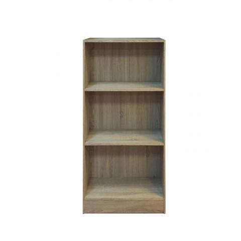 Libreria chiusa 3 ripiani colore rovere