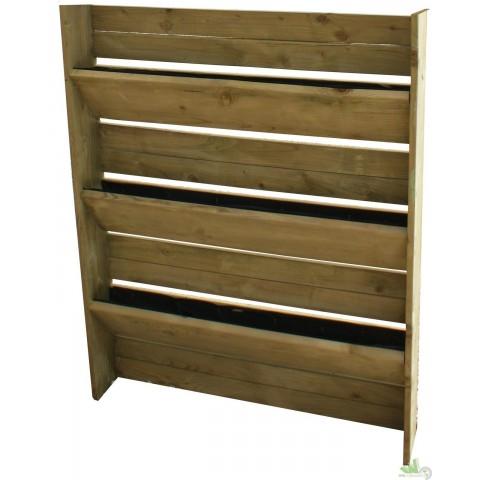 Orto verticale 4 ripiani in legno di conifera
