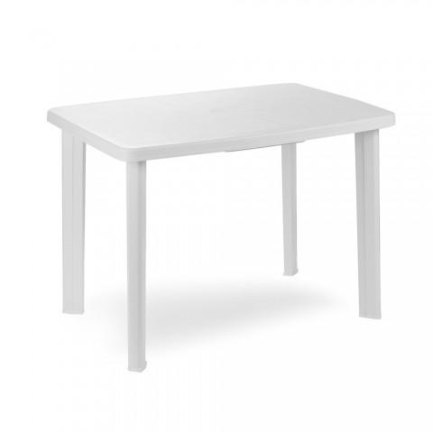 Tavolo faretto da giardino in resina colore bianco