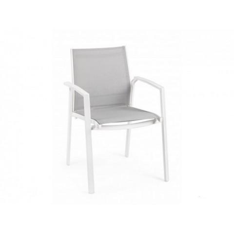 Sedia Bizzotto Liam Con Braccioli in Alluminio Bianca