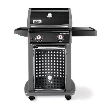 Barbecue a gas spirit EO-210 2 Fuochi Nero Con Cappa e Ruote