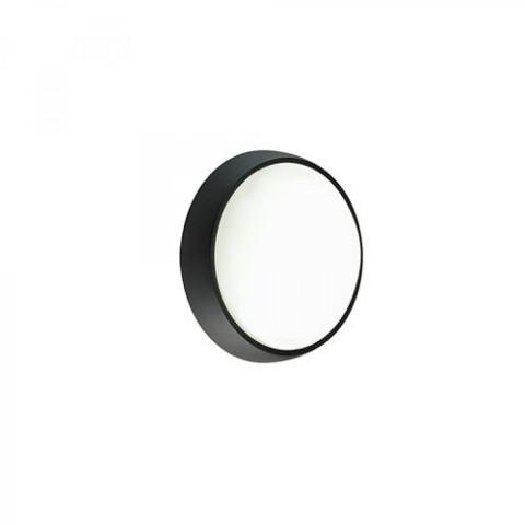 Plafoniera tonda d. 17 cm nera