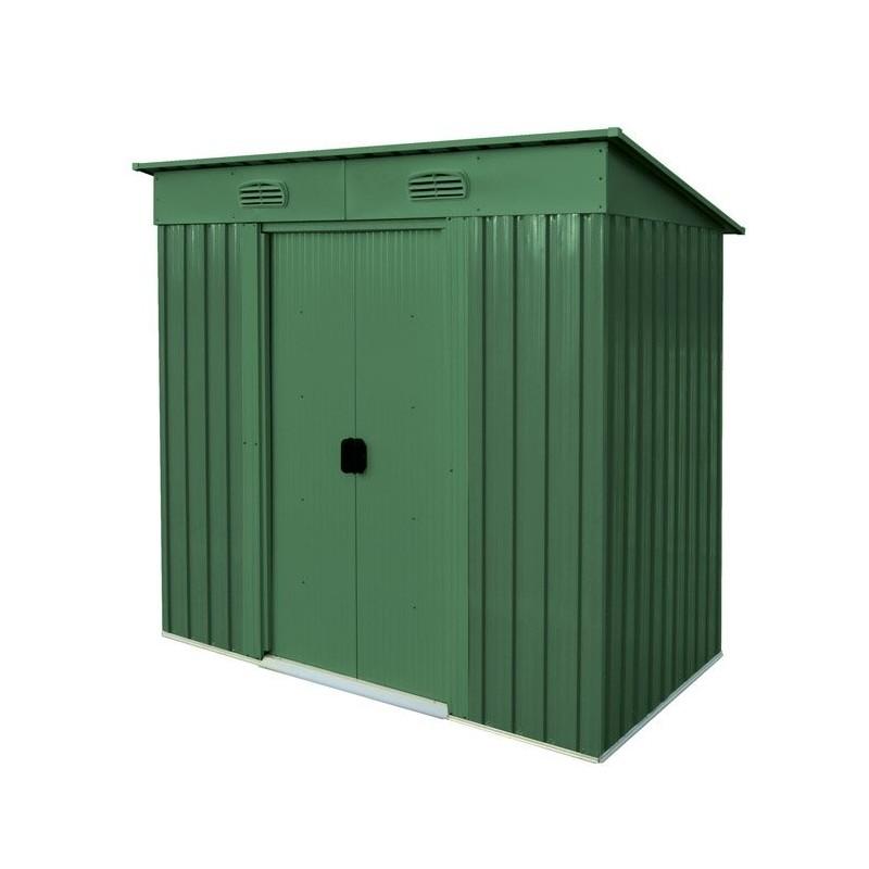 Casetta porta attrezzi in metallo verde