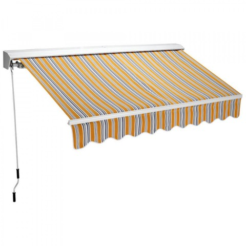 Tenda da sole 2,5m x 2m Gialla semicassonata