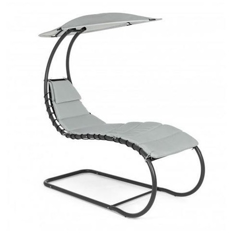 Chaise Longue Lettino Larry Grigio