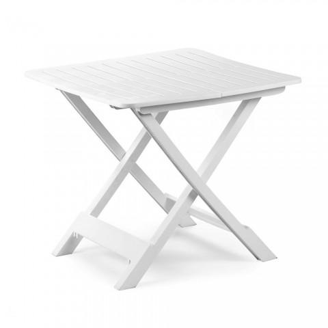 Tavolo pieghevole bianco da giardino bianco TEVERE